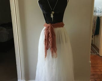 Tulle Tea Length Tutu Skirt Size 6-12