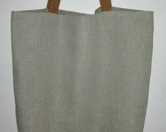Bag handles beige linen braided.