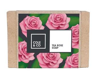 Welsh Handmade Feminine Tea Rose Soap