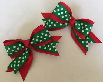 3 inch Christmas Pigtail Bows