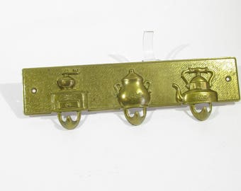 vintage wall hanger brass
