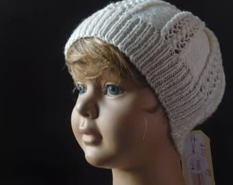 Cream Knitted Beanie