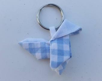 Keychain blue Plaid