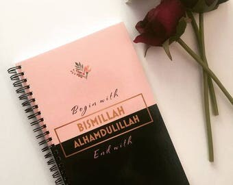 Bismillah Alhamdulillah notebook gift stationery Islamic gift