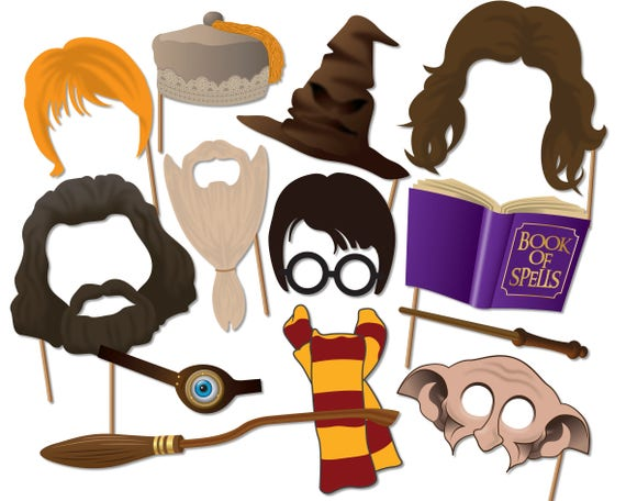 Transformative image in harry potter printable props