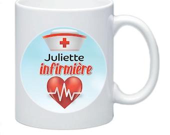 Nurse name to personalize names #9 mug