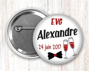 1 large badge 75mm EVG funeral life boy-customizable and available in 44mm for @1 friends