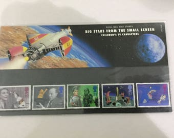 Big Stars From The Small Screen Royal Mail Mint Stamps Presentation Pack 1996