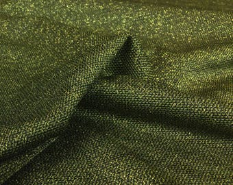Green Metallic Glitter Stretch Fabric - 58 Inches Wide
