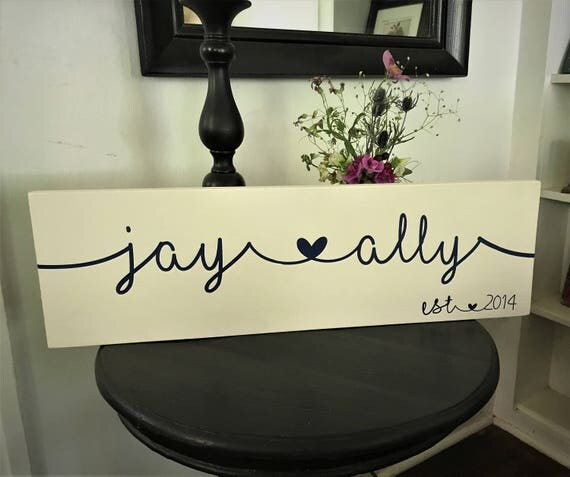 Personalized name sign for couples