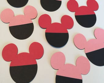 Mickey and Minnie Mouse die cuts