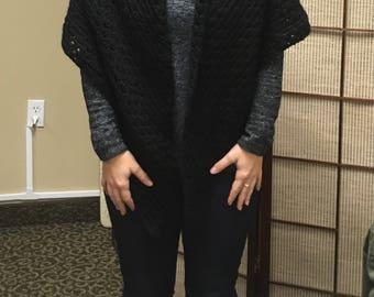 Crochet Black Shawl