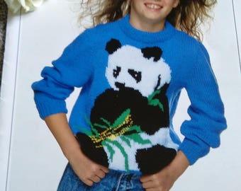 Knitting Pattern Panda Jumper : Panda sweater Etsy
