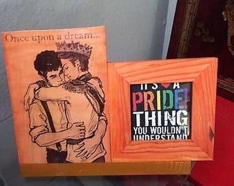 Gay Love Picture Frame, Picture Frame, Gay Male, Gay Pride, Gay Pride Picture Frame, Gay Male, Gay Art, LBQT, Pride Art, Gay Wedding