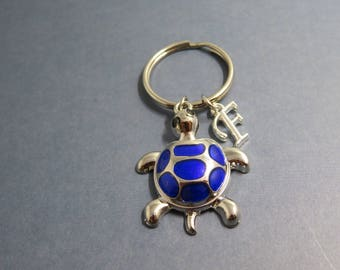 Turtle keychain - personalised turtle keyring - Keychain turtle - initial letter