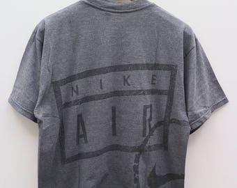 Vintage NIKE Air Big Logo Sportswear Gray Tee T Shirt Size M