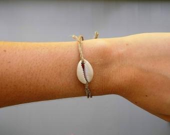 Cowrie Shell Hemp Bracelet or Anklet Cowry