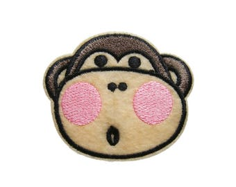 Cute Monkey Patches Applique Embroidered Iron on Patch