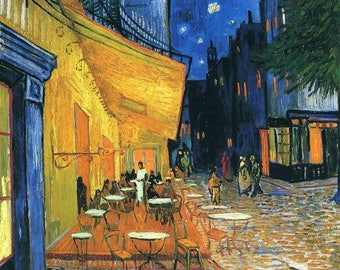 Inspirer Studio® Ultra Giclee on Canvas - Stretched - Ready to hang - vincent van gogh (Cafe Terrace)