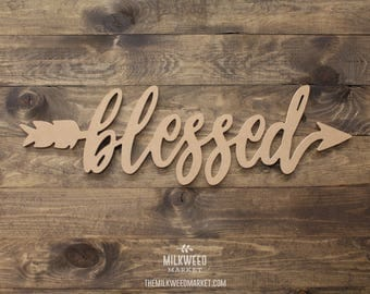 Blessed Arrow Cutout Sign