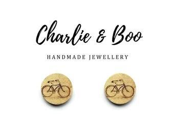 Bike Bicycle Stud Earrings