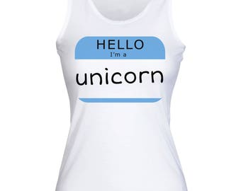 Hello, I'm A Unicorn Women's Tank Top Shirt