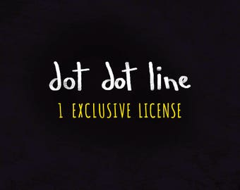 1 EXCLUSIVE USE LICENSE  for 1 Clipart Set