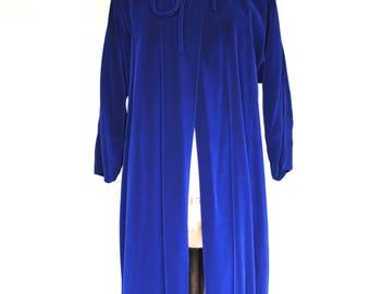 1940s Blue Velvet Opera Coat, 40s Velvet Swing Coat, Vintage Cape Coat, Women's Vintage, Vintage Coat, Wedding Coat, 40s Fashion