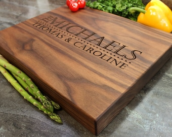 "Personalized Chopping Block 12x15x1.75"" - Engraved Butcher Block, Custom Chopping Block, Housewarming Gift, Wedding Gift #14"