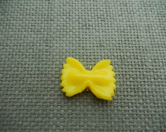clay, noodle, farfalle fimo yellow