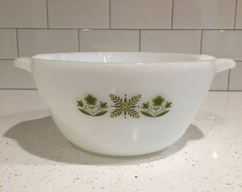 Fireking - Anchor Hocking - Green Meadow mixing bowl