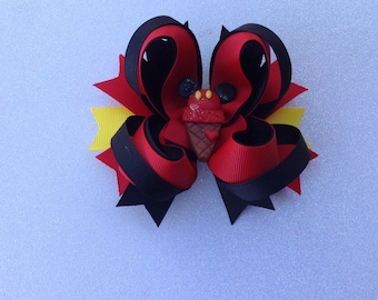 Mickey Mouse Ice Cream Bow