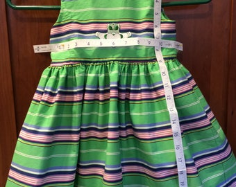 Traditional and classic 4/4T Ralph Lauren Polo dress with Irish decoration