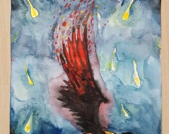 Original watercolor Supernatural Castiel