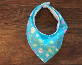 Bandana Bib, Easter Bib, Girl Bib, Gender neutral bib, Baby shower gift, Holiday bib, Egg Bandana, Easter Bandana,  Baby Branch Boutique