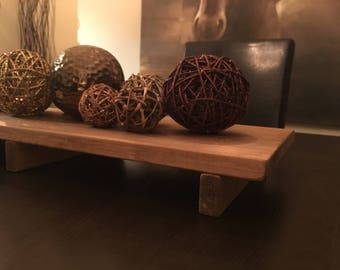 Rustic Wood Table Runner / Tray Centerpiece   18 And 24 Inches