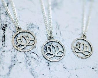 Lotus Necklace | Lotus Flower | Lotus Flower Jewellery | Lotus Flower Necklace | Lotus Flower Charm | Flower Necklace | Flower Charm