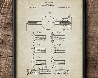 X-ray tube · Patent · 1916 · W.D. Coolidge · Instant Download · Printable · Vintage #206