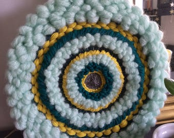 "Circular weaving ""Greeny"" Fluffy""XL"