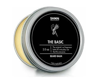 SHMN BEARD BALM - The Basic - 100% Natural - Unscented leave in beard conditioner