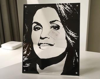 custom portrait based on photo, personalized portrait, paper cut art, wall decor, framed, souvenir, gift, desk photo frame