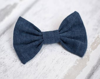 Dog Bow Tie | Navy Blue Bow Tie | Wedding Bow Tie | Christmas Bow Tie | Formal Bow Tie | Gift For Pet | Luxury Dog Gift | UK | Bowtie