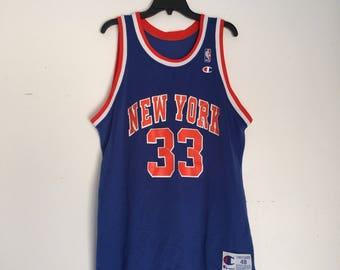 Patrick Ewing Vintage Champion Jersey New York Knicks