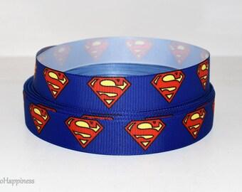 "Superman 7/8"" Grosgrain 466 By the Yard"