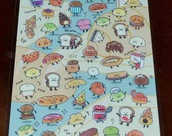 Kawaii Mind Wave Funwari Bakerys Sticker Sheet