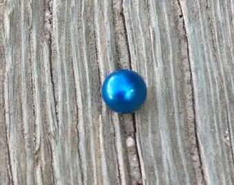 Blue Pearl Inside Akoya Oyster