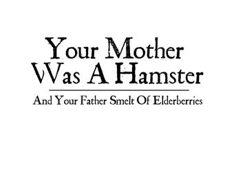 T-SHIRT: Monty Python / Mother of all Hamsters - Classic T-Shirt & Ladies Fitted Tee - (LazyCarrot)