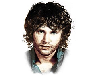 T-SHIRT: The Doors / Jim Morrison - Classic T-Shirt & Ladies Fitted Tee - (LazyCarrot)