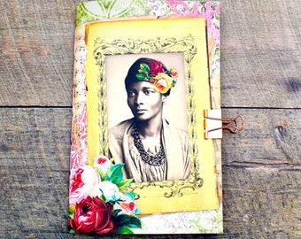 Junk Journal Traveler's Notebook Insert - African American Women - Cahier Size - Art Journal Insert - Scrapbook Insert - Writing Insert