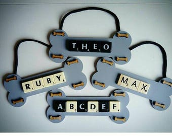 Personalised Bone Shaped Name Plaque